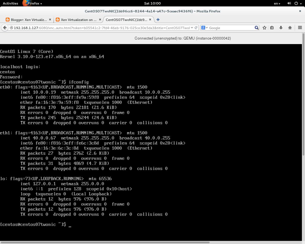 Xen Virtualization on Linux and Solaris: Setup QCOW2 standard CentOS