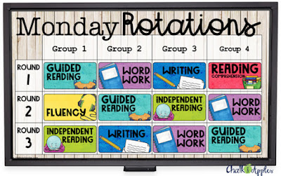 Use a digital reading rotation board to keep everyone on track and streamline planning!