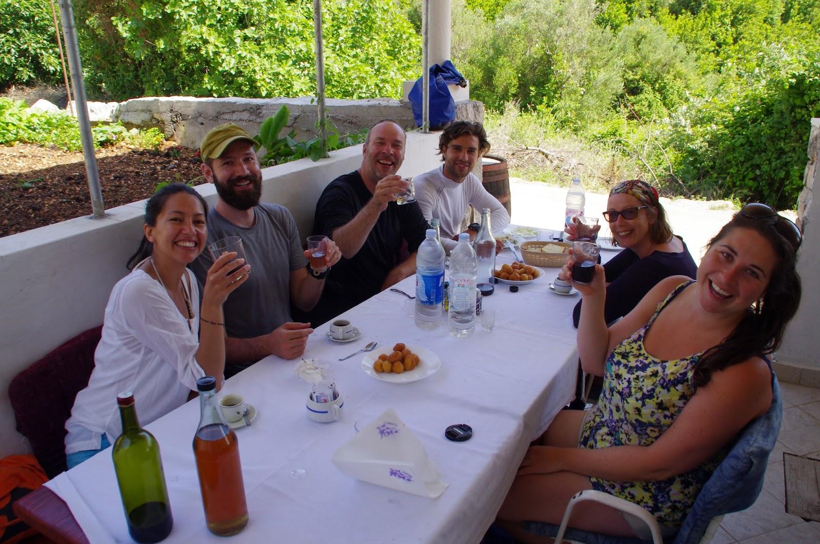 Group having lunch on Sipan Island