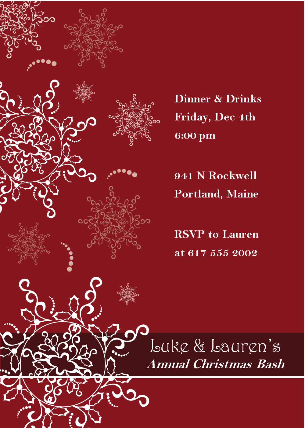 Christmas Dinner Invitation Templates free dinner invitation – Dinner Invitation Templates Free