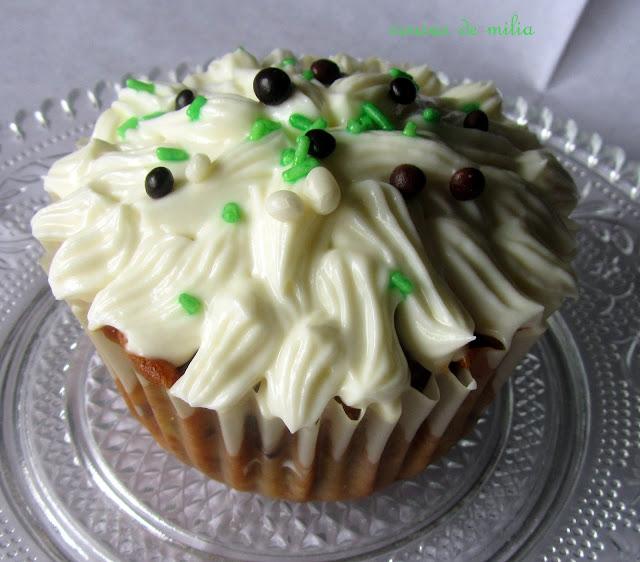 Cupcakes de calabacin con crema de queso