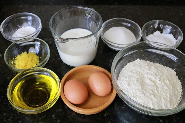 Ingredientes para tortas de leche