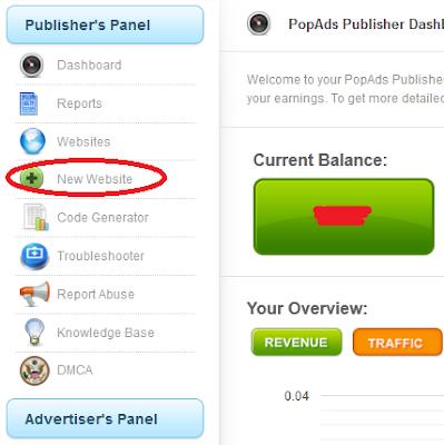 Panduan Memasang Iklan PopAds di Blog