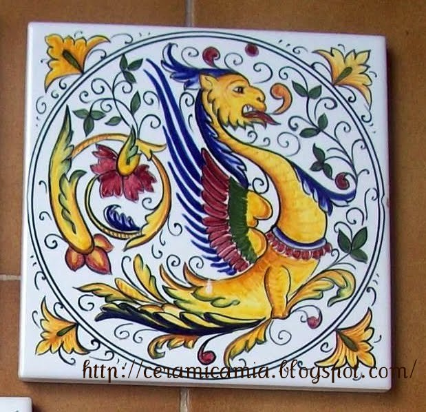 Piastrelle Di Ceramica Decorate.Ceramica Che Passione Piastrelle Di Ceramica Decorate A Mano