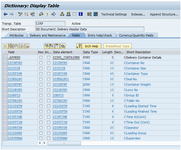 SAP ABAP: BADI: Add Header Custom Fields Tab in VL01N,VL02N