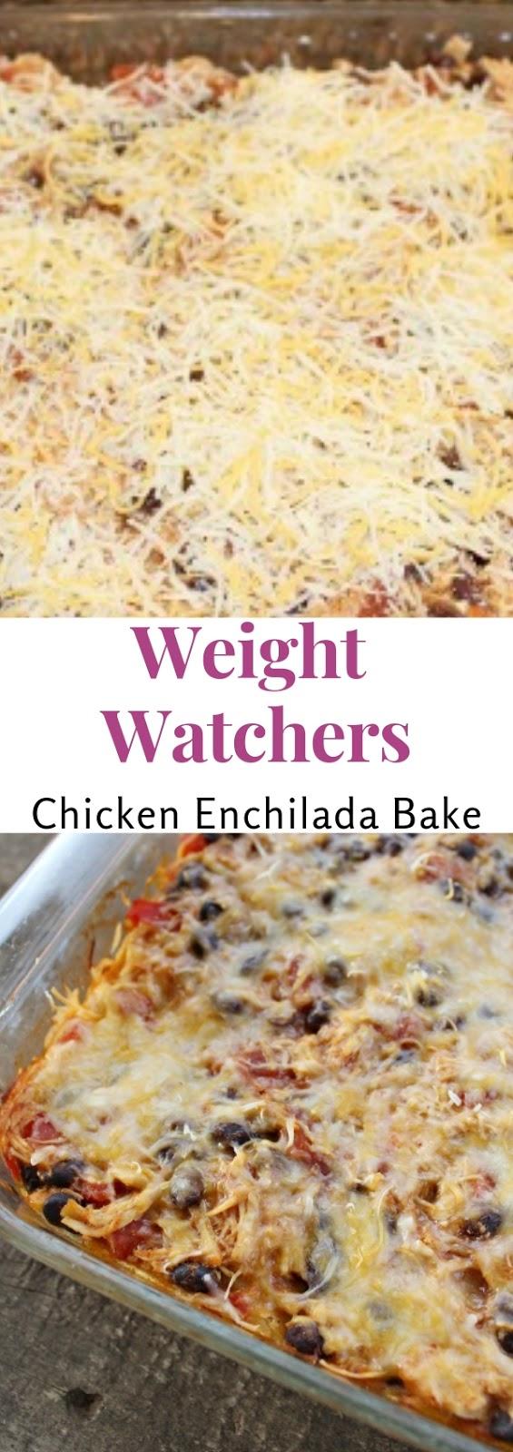 Weight Watchers Chicken Enchilada Bake #maincourse #dinner #weight #watchers #weightwatchers #chicken #enchilada #bake