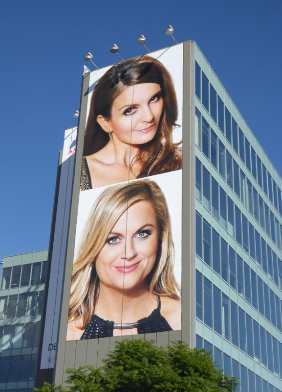 Giant Tina Fey Amy Poehler Sisters movie billboard