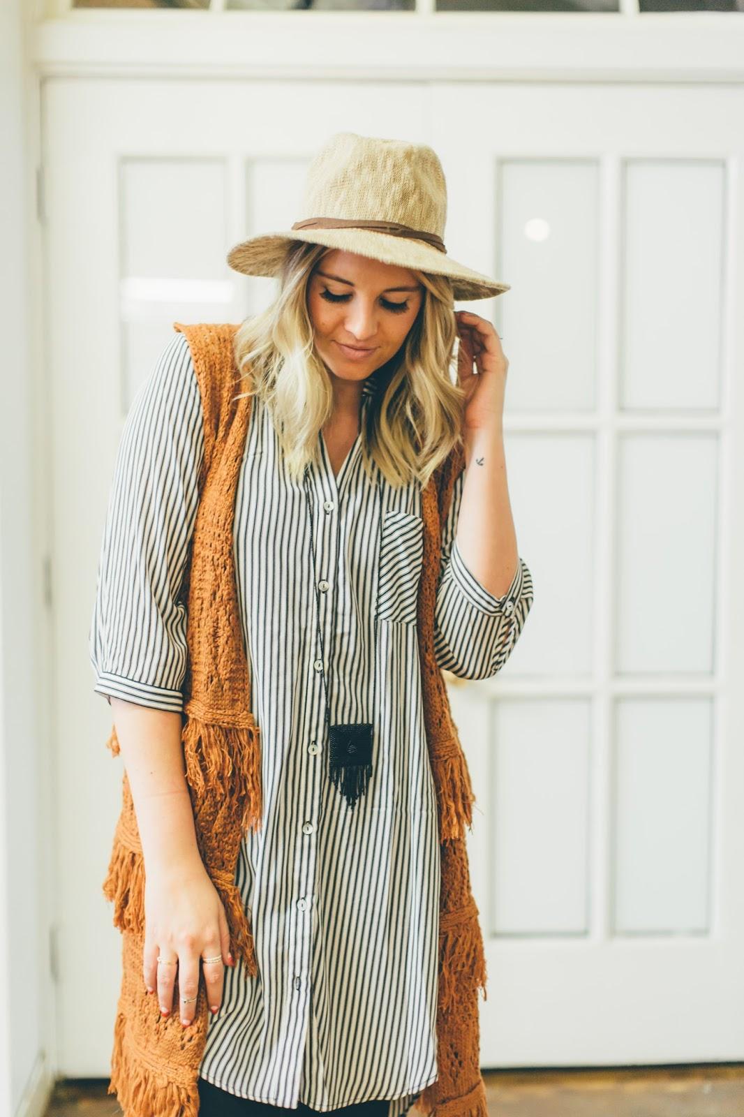 Boho, Utah Fashion Blogger, Stripes