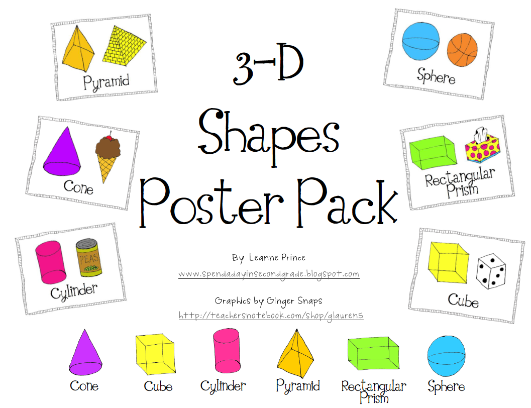 Names And Faces Edges Vertices 3d Shapes Worksheet