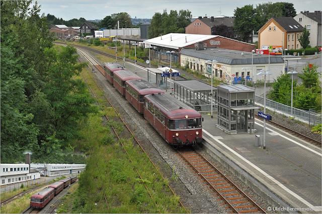 Schienenbusgarnitur in Wuppertal-Ronsdorf, Foto Uli Berensmeier