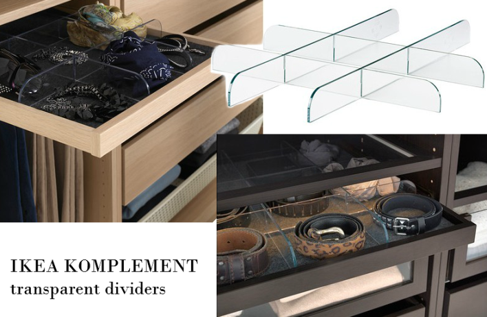 IKEA KOMPLEMENT transparent dividers