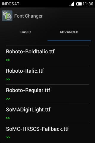 Tutorial Mengganti Fonts Di Android Ics Dengan Fontchanger 3