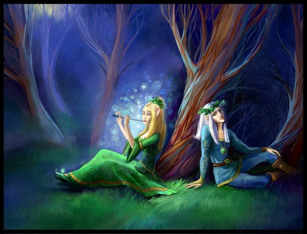 lovers sad flute song painting image downloadjpg - Free Painting Pictures