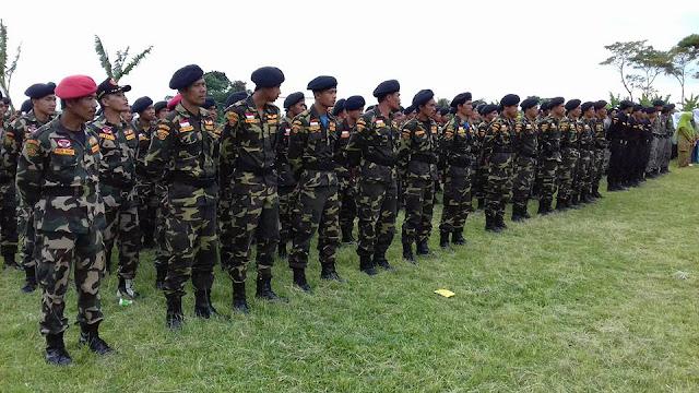 Foto Upacara Peringatan Hari Santri Nasional MWC NU Bawang Kabupaten Batang