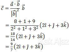 Proyeksi ortogonal vektor a terhadap vektor b