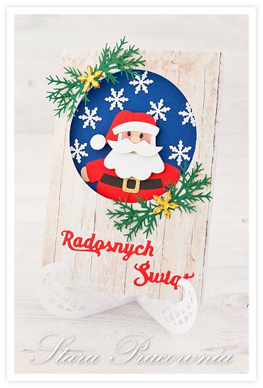 Kartki świąteczne z Mikołajem, kartki ręcznie robione, card making,