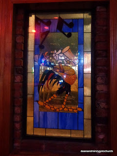 roosters stained glass