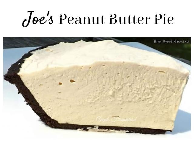 Home Sweet Homestead: Peanut Butter Pie