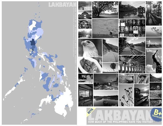 Lakad Pilipinas Lakbayan Map