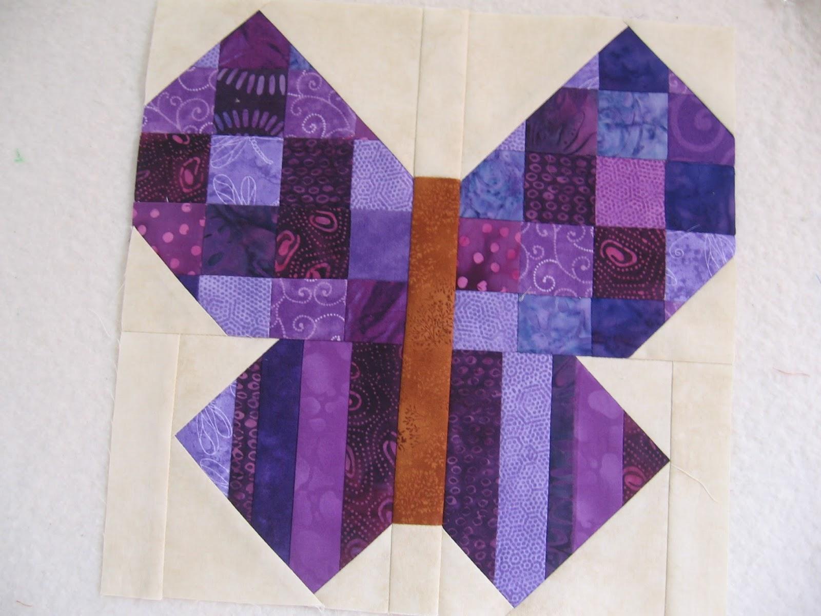 Canuck Quilter: RSC butterfly - purple edition : butterfly quilt blocks - Adamdwight.com
