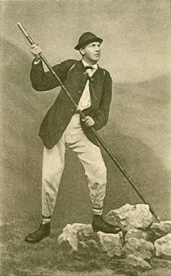 von Barth mit alpinen Stock