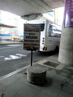 NAIA Terminal 3 bus shuttle signage