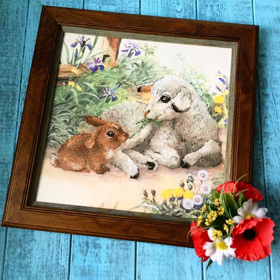 Картинка с новым годом кролик