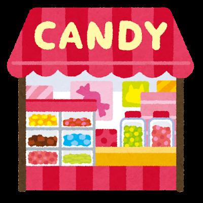 お菓子屋のイラスト