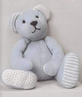 Doudou ours au tricot