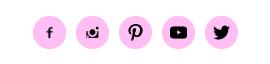 Ícones das redes sociais no blogger
