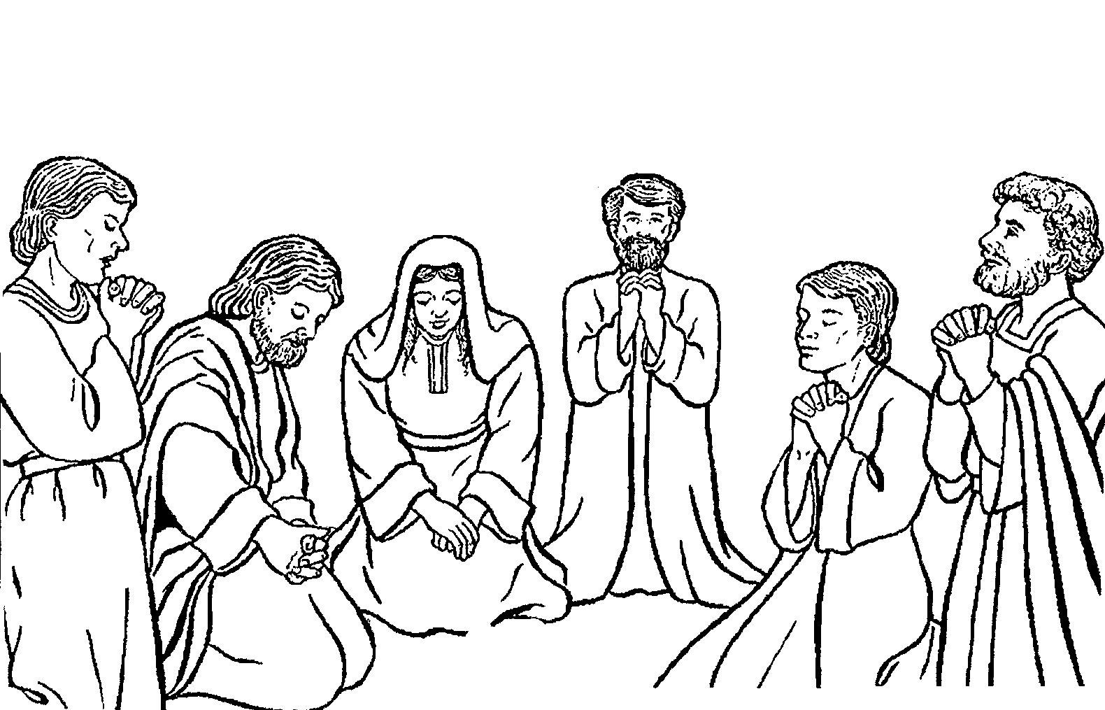 contoh gambar mewarnai gambar anak sedang berdoa kristen