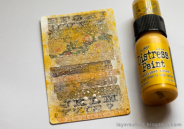Layers of ink - Embossed Acetate Autumn Tag Tutorial by Anna-Karin Evaldsson, altered packaging