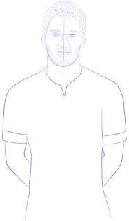 Langkah 10. Super Simpel Menggambar Luis Suárez