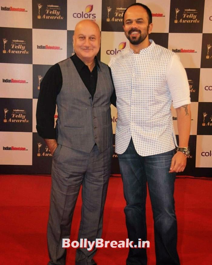 Anupam Kher, Rohit Shetty, Pics on Red Carpet of 13th Indian Telly Awards 2014