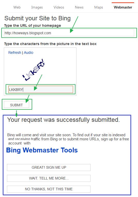 검색등록: 블로그 홈페이지를 빙(Bing.com) 웹마스터에 검색들록하는 방법