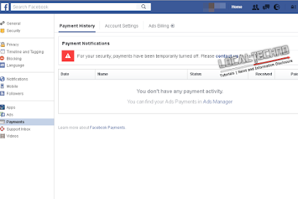 Cara Mengatasi Banned Payments Atau Temporarily Turned Off Di Facebook Ads By Localtechno