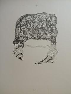 Modest Cuixart litografía mujer esbozo