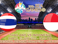 Thailand U23 vs Indonesia U23 Semifinal SEA Games 2015
