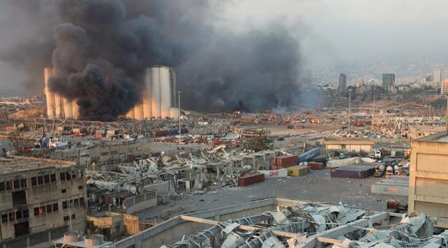 انفجار لبنان اليوم،انفجار مرفأ بيروت، انفجار كبير مرفأ بيروت