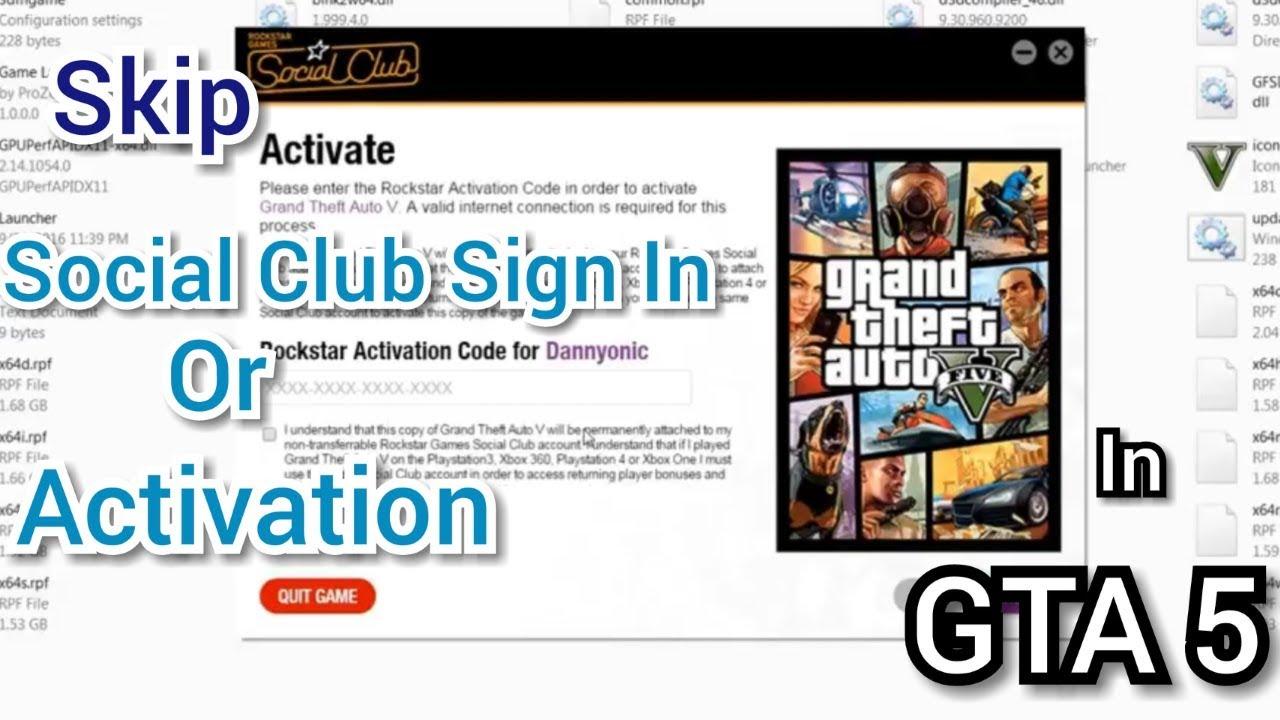 Skip Social Club Login / Activation in GTA 5 - Sensible Stuff