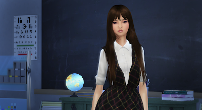 sims 4 korean girl.