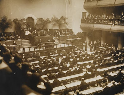 Opening of League of Nations