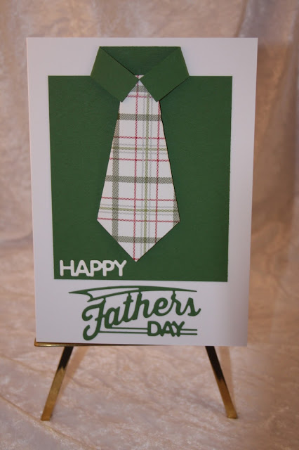Father's Day card, origami fold tie and shirt, formal tie and shirt card