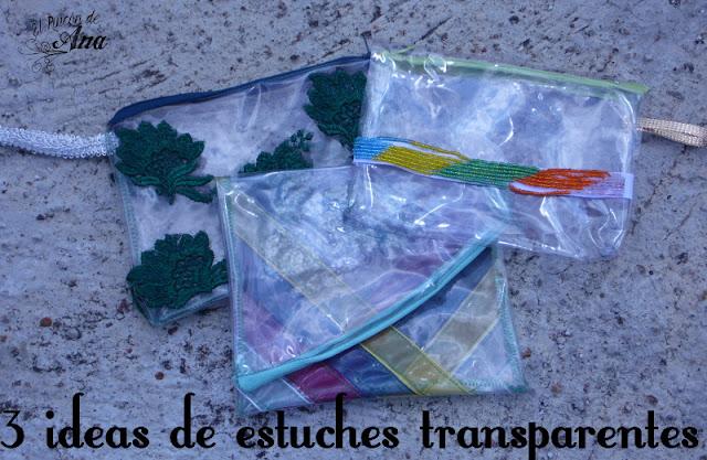 3 modelos de clutch transparentes