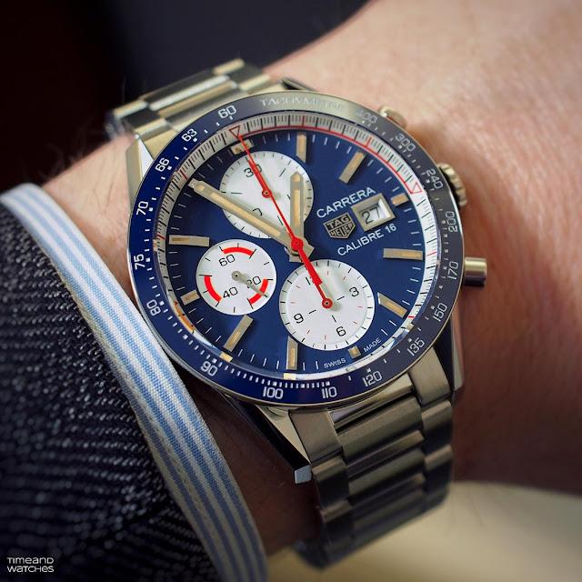 TAG Heuer Carrera Calibre 16 Chronograph Ref CV201AR.BA0715 wristshot
