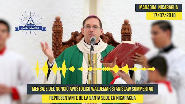 Mensaje del Nuncio Apostólico al gobierno de Nicaragua.