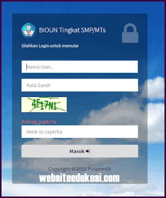 BIO UN 2019 SMP/MTs, SMA/MA, SMK Cara Login & Upload Data