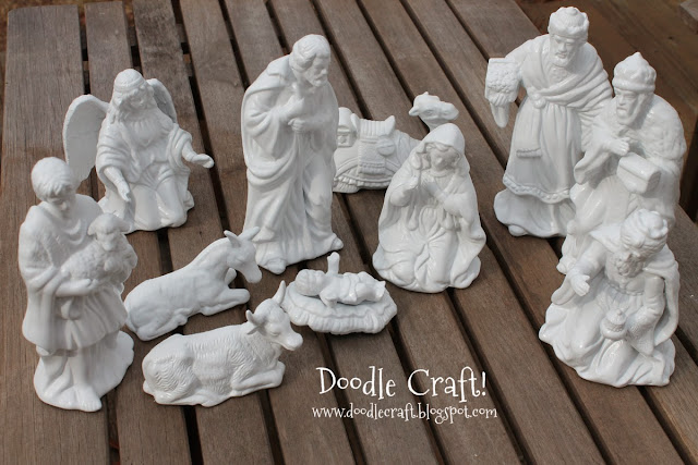 http://www.doodlecraft.blogspot.com/2012/12/porcelain-white-nativity-set.html