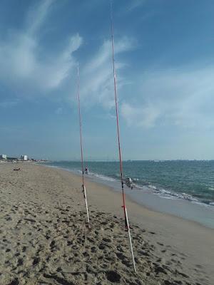 Pesca en la playa De Las Redes