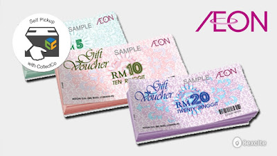 RM80 for RM100 AEON's Cash Voucher